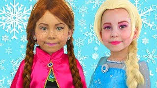 Download lagu Alice Pretend Princess Frozen Elsa And Anna  The Best videos of 2018 by Kids smile tv