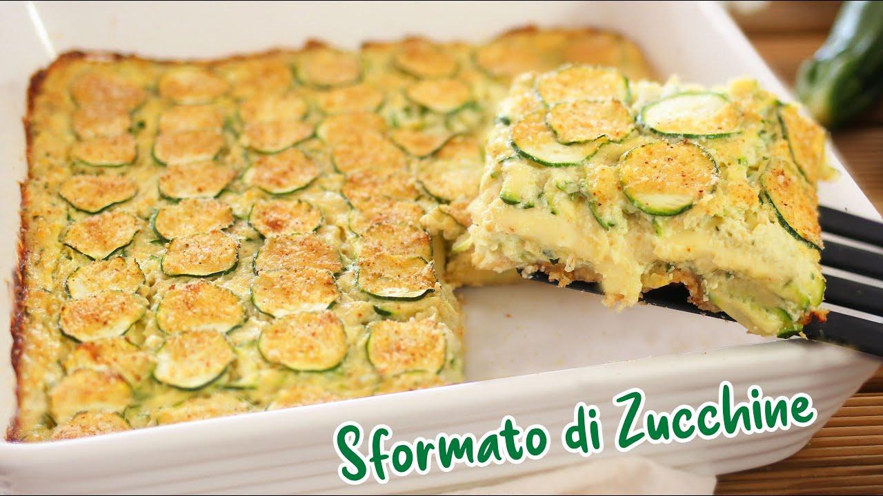 SFORMATO DI ZUCCHINE FILANTE AL FORNO - Ricetta Facile - Zucchini Pie