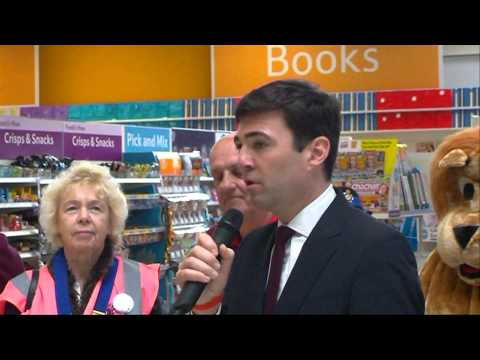 Lions Message in a Bottle re-launch in Leigh with MP Andy Burnham