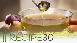 How To Make A Basic Vegetable Stock Recipe - Recipe30