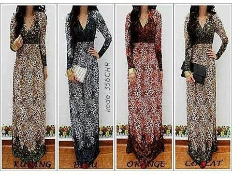 Baju Gamis Model Kurung Moden Gaun Muslimah Pesta Terbaru