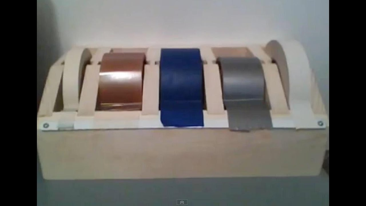 Make A 5 Roll Tape Dispenser Part 1 Youtube