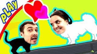 БолтушкА и ПРоХоДиМеЦ ищут Правильные пары КОТИКОВ и СОБАЧЕК ! #346 Игра для Детей - In couples