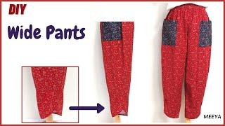 DIY Wide Leg Pants comfortable…