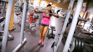 Силовая тренировка ног на рельеф для девушек - какими упражнениями накачать ягодицы(Если вы задаетесь вопросом какими упражнениями накачать ягодицы, посмотрите видео этой очень необычной..., 2014-04-22T12:14:36.000Z)