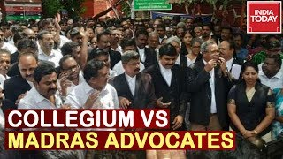 collegium-vs-madras-lawyers-protesters-asks-transparency-for-justice-tahilramani-s-transfer