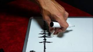 Dry Erase Whiteboard Art - How To Draw Pine Trees - Mr Ed Draws