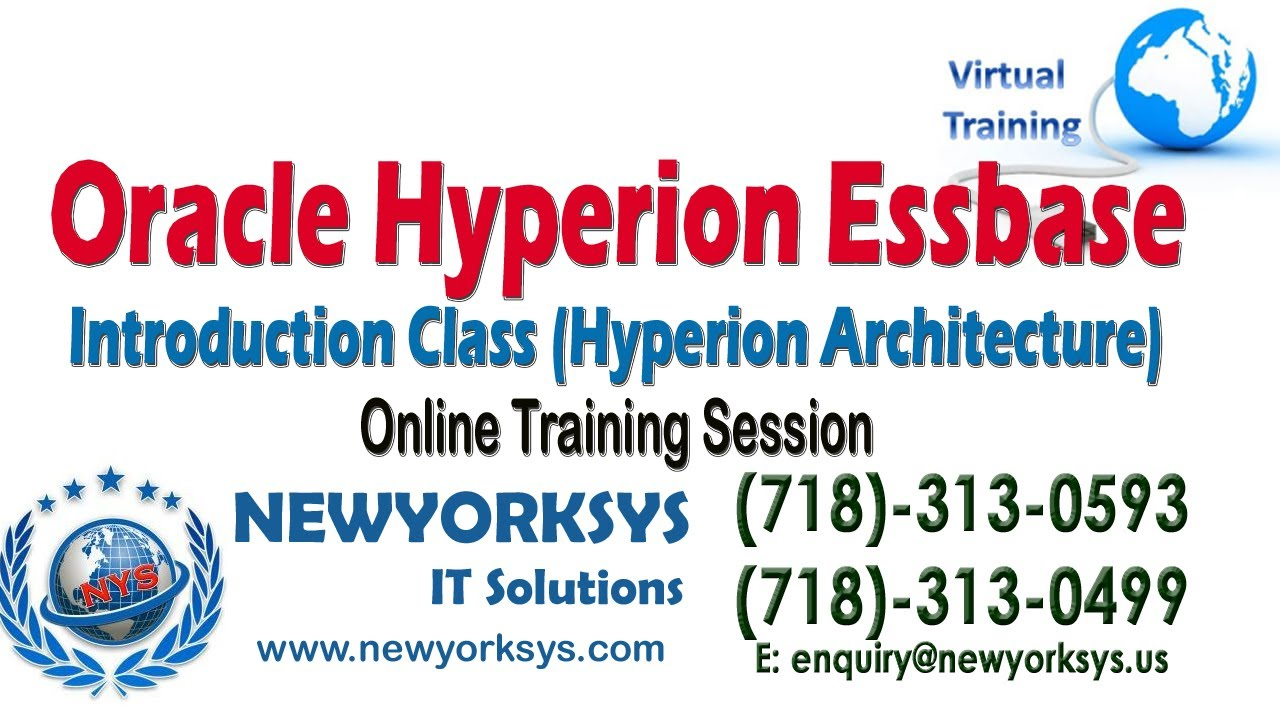 Oracle Hyperion Essbase Architecture Online Training Introduction Session |  Newyorksys