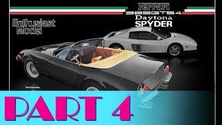 """Building the 1/24 Scale """"Miami Vice"""" Ferrari Daytona - Part 4"""