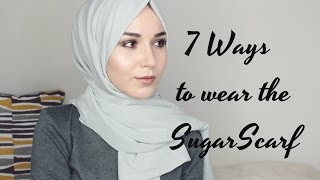 HIJAB TUTORIAL | 7 Ways to wear the SugarScarf