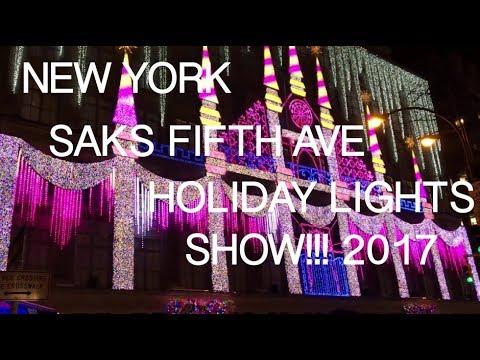 Saks 5th Avenue Christmas Light Show 2017 - Saks 5th Avenue Christmas Light Show 2017 - YouTube
