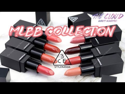 [ENG SUB] 3CE MATTE LIP COLOUR - MLBB COLLECTION SWATCHES & REVIEW