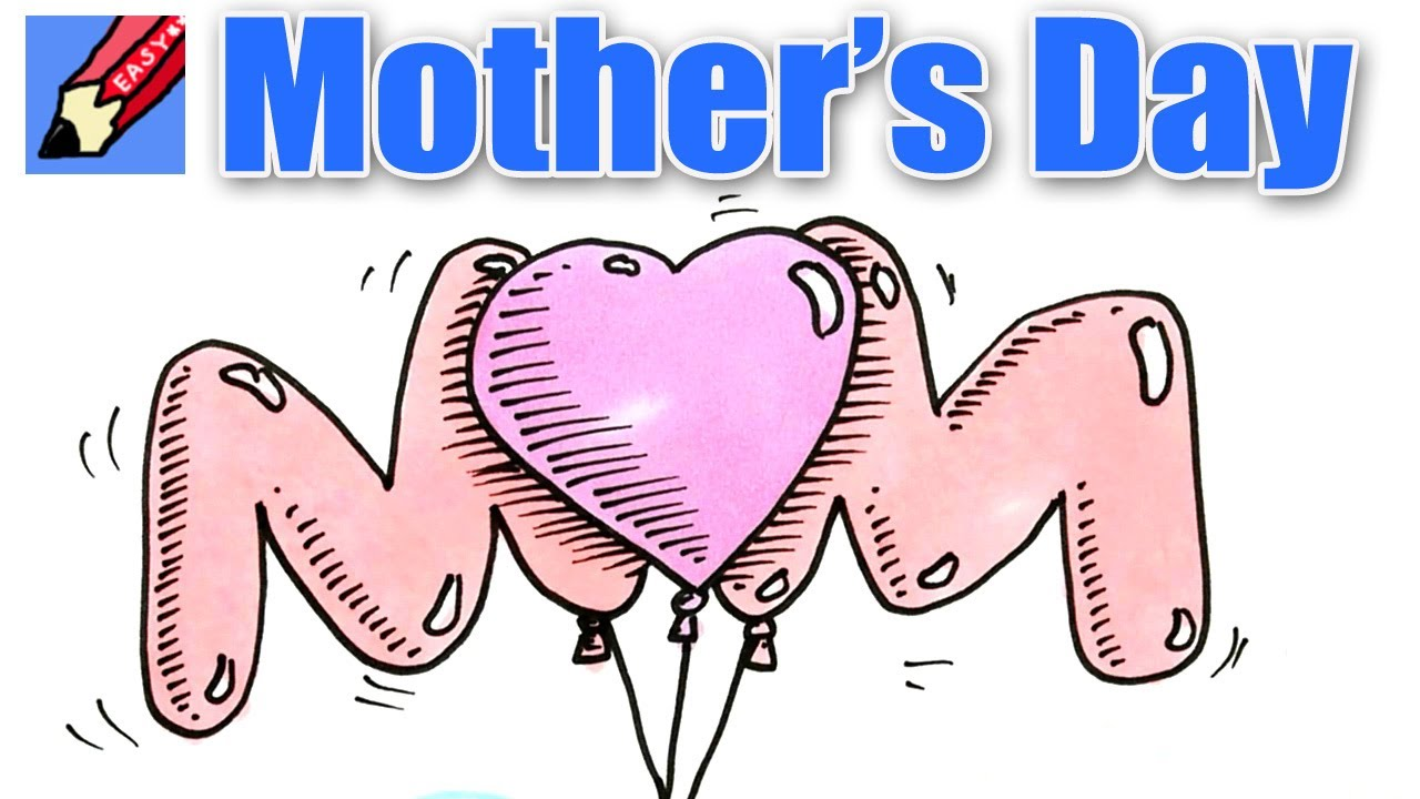 Cute pictures to draw for your mom on mothers day