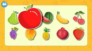 Learning names of fruits for kids toddlers   preschool, learning kids art