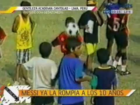 Messi 10 years old