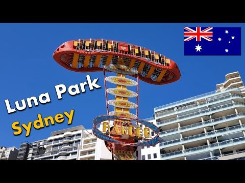Luna Park Amusement Park Milsons Point -Sydney Australia Vlog -  Bumper Car - Attractions