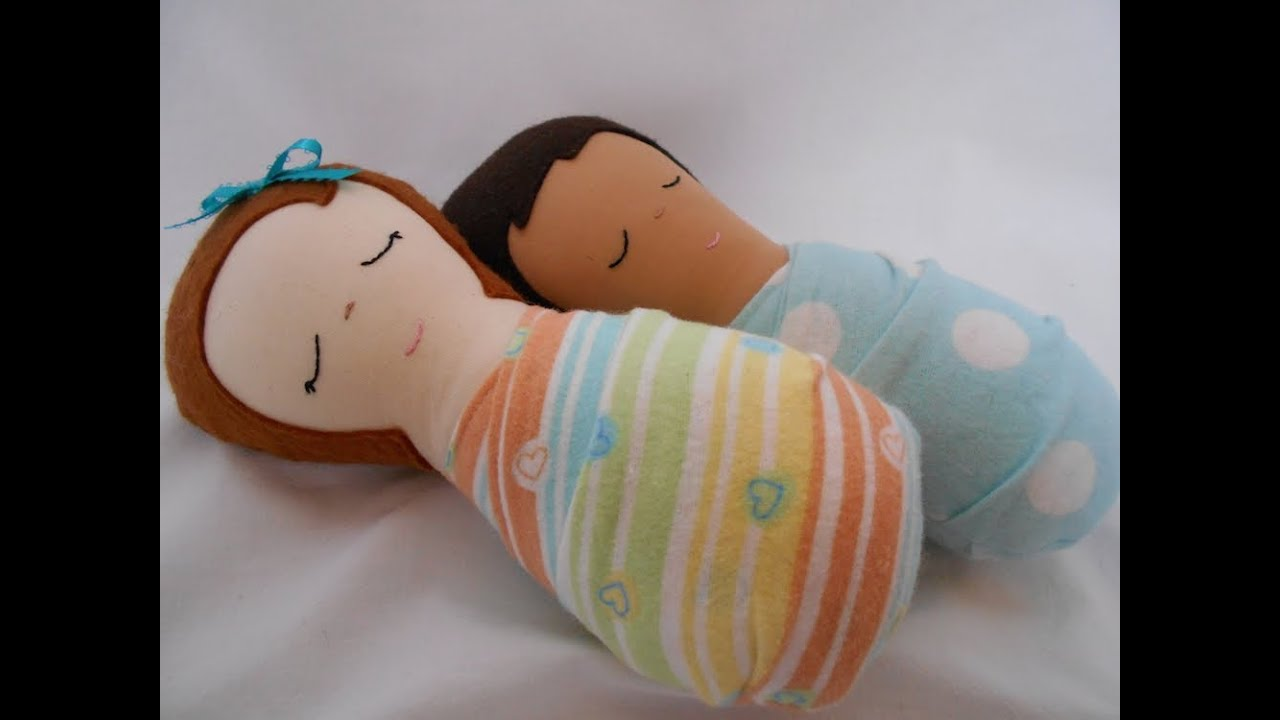 How to Make a Simple Handmade Doll - Cloth Doll Baby - YouTube