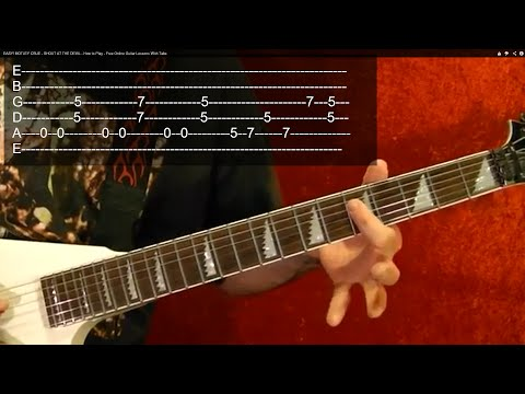 BLACK SABBATH - ELECTRIC FUNERAL - Guitar Lesson - Easy!!