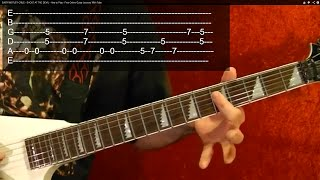 BLACK SABBATH - ELECTRIC FUNERAL - Guitar Lesson - Easy!!