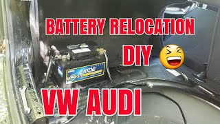Battery  relocation Vw mk4 all vw's all  audi's