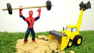 Человек-паук - Машинки из мультсериала Боб-строитель