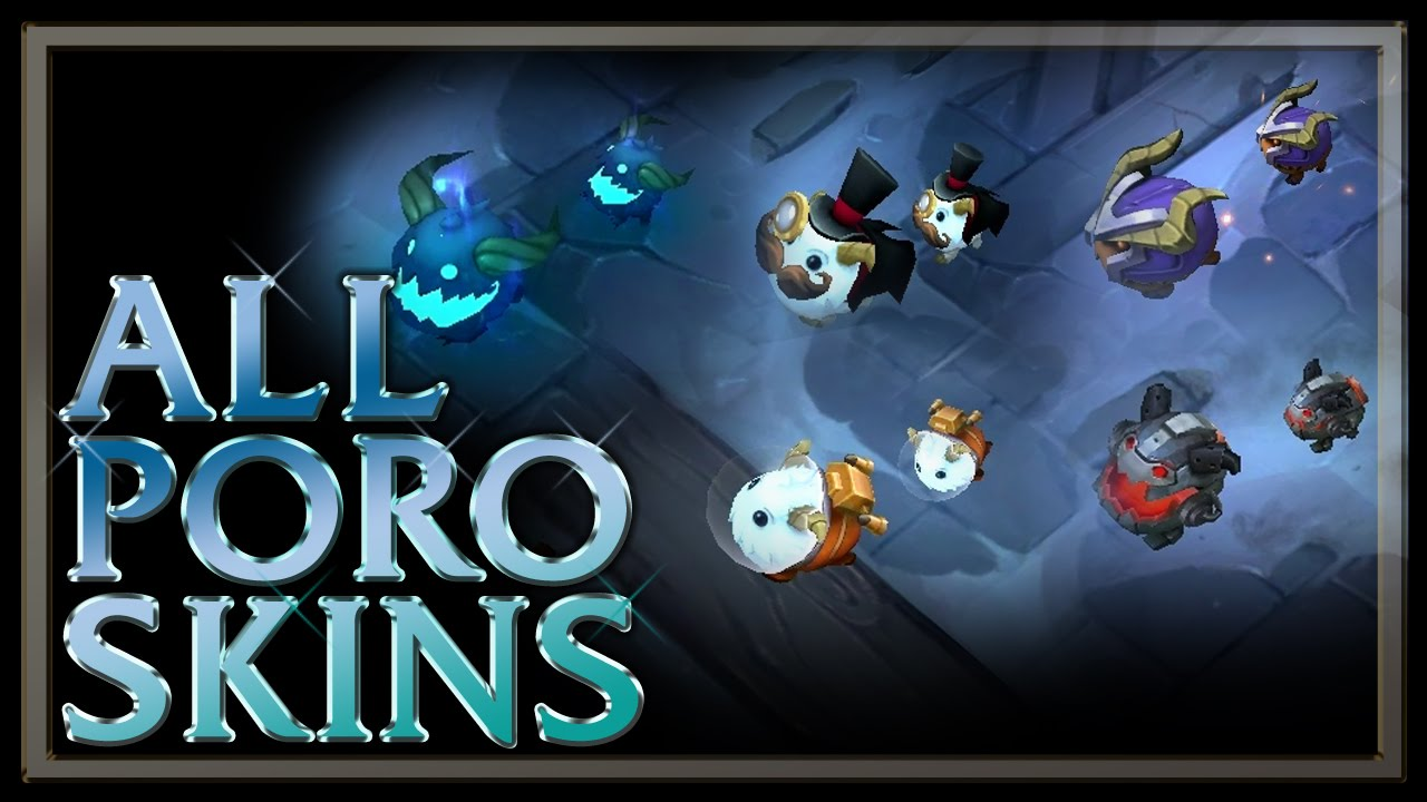 all poro skins from legend of the poro king game mode league of