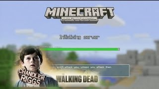 Joel and Jack play Minecraft with Chandler Riggs from Walking Dead!