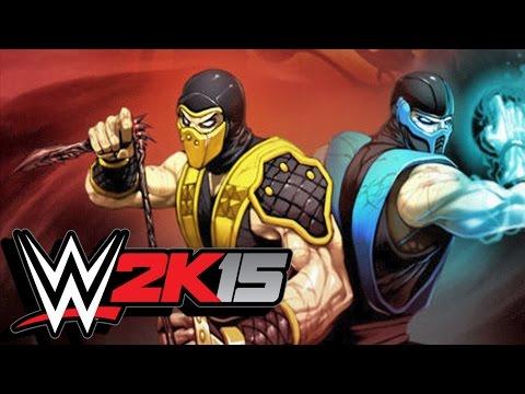 WWE 2K15 / Scorpion Vs Sub-Zero! (CaRtOoNz Vs H2O Delirious) (Cage Match)
