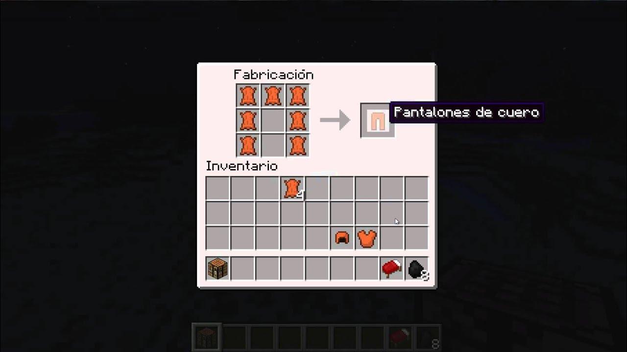 Minecraft como hacer una armadura de cuero youtube for Como hacer muebles en minecraft