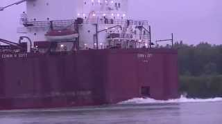 Edwin H. Gott Great Lakes Fleet Lake Freighter Neebish Channel Aug 2014