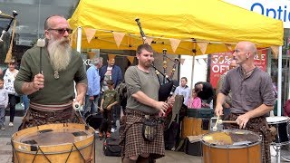 "Clanadonia perform ""Tu-Bardh"" live in Perth City Centre during Medieval Festival, Scotland 2017 - 4K"
