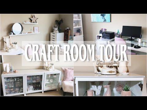 Craft Room Tour + Organization ideas | GLAMSOCKETS