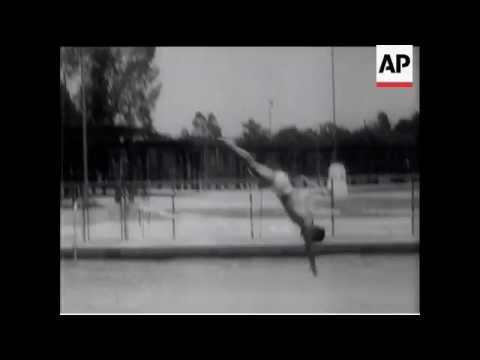 Fancy Diving by American Olympic Stars - 1948
