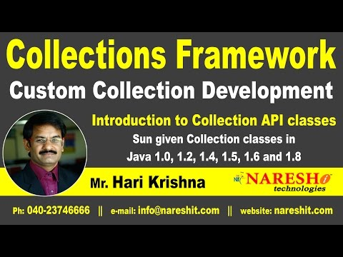 Introduction to Collection API classes | Core Java Tutorial | Mr. Hari Krishna