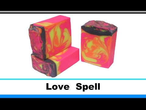 Love Spell, Cold Process Soap Making and Cutting, 21st loaf