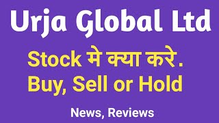 Urja Global Ltd - Stock मे क्या करे. Buy, Sell Or Hold | Review, Latest News, Multibagger Stock