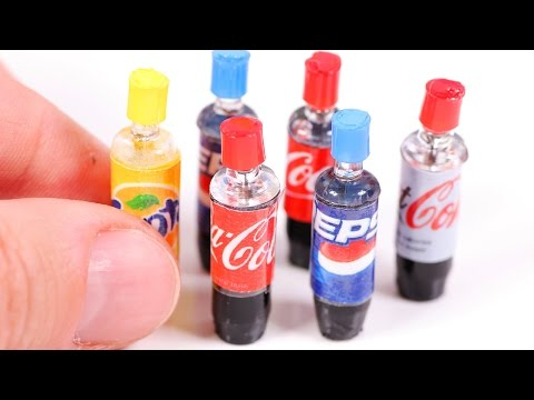Thumbnail: DIY Miniature Soda Bottles ~ Coca-Cola etc.