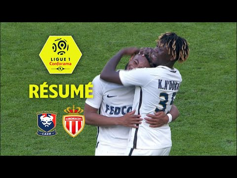 SM Caen - AS Monaco ( 1-2 ) - Résumé - (SMC - ASM) / 2017-18