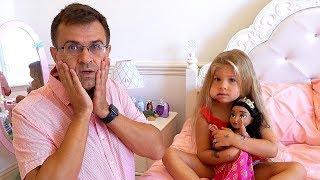 डियेना और पापा डेंटिस्ट के पास जा रहे हैं। Dianna and Papa are going to the dentist