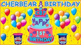 ~🎂❤🎂~ Happy Birthday Cher Bear Toys ~🎂❤🎂~ | HUGE Play Doh Surprise Birthday Cake & Toy Opening