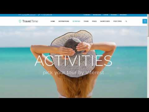 Travel Time - Tour, Hotel & Vacation Travel WordPress Theme - WordPress Download