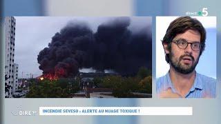 Incendie Seveso : alerte au nuage toxique ! #cadire 26.09.2019