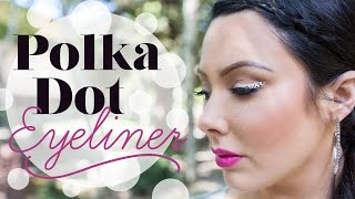 Polka Dot Winged Liner & Bright Pink Lip | Makeup Geek