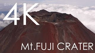 Aerial view of Mt. Fuji crater taken with a drone / 絶景 富士山頂空撮