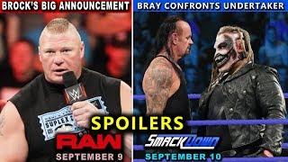 10 WWE RAW & SmackDown: Sept. 9 & 10, 2019 Rumors and Spoilers - Brock Lesnar Returns
