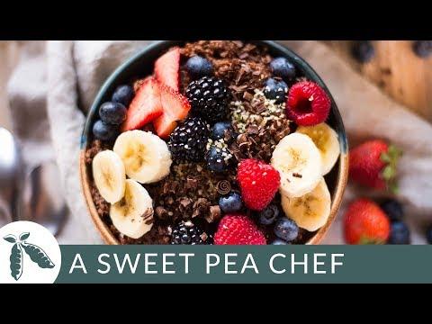 Chocolate Quinoa Breakfast Bowl | Healthy Breakfast Recipes | A Sweet Pea Chef