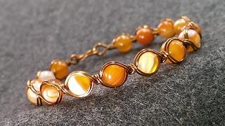 copper wire bracelet - How to make wire jewelry 212