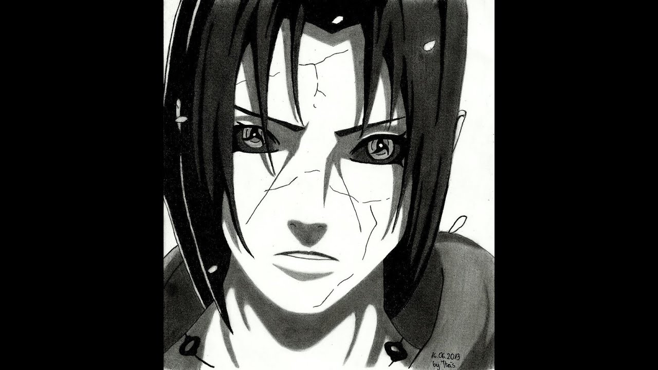 tutorial 2 how to draw itachi uchiha