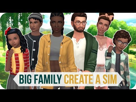BIG FAMILY CREATE A SIM | Sims 4 CAS