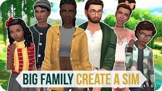 BIG FAMILY CREATE A SIM | Sims 4 CAS